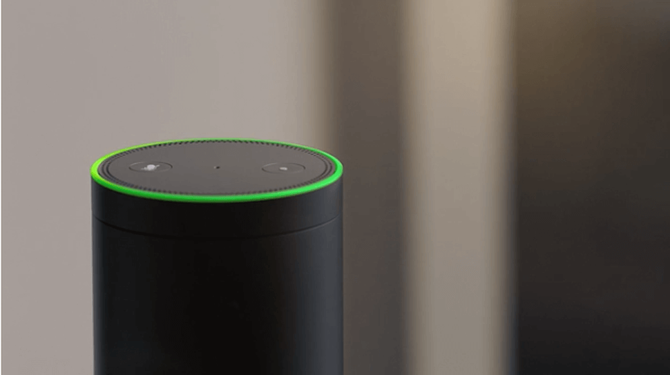 why is alexa flashing green