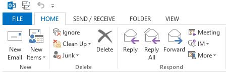 Click file tab